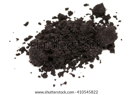 coffee ground on the white background