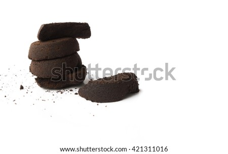 coffee grounds on white background  - stock photo