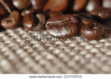 Coffee grunge background on the light background  - stock photo