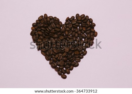 coffee heart - stock photo