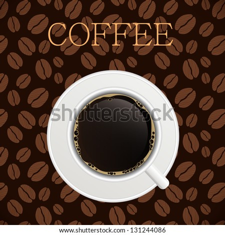 Coffee house menu template  illustration