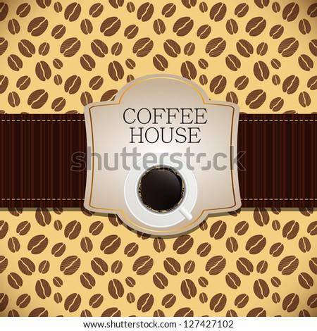 Coffee house menu template  Raster version illustration - stock photo