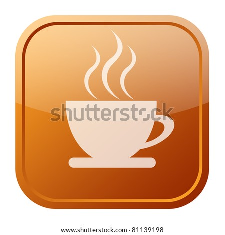 Coffee icon - stock photo