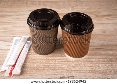 coffee in a paper cup - stock photo