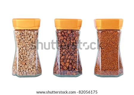 Coffee in the Jar - stock photo