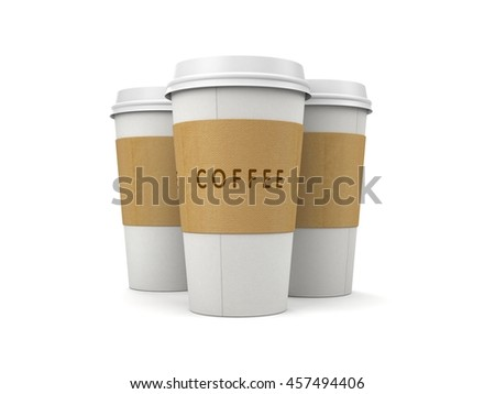 Coffee in thermo cap. Take-out coffee. 3d illustration