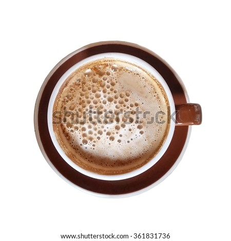 Coffee isolated on white - stock photo