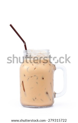 Coffee Isolated on White Background - stock photo