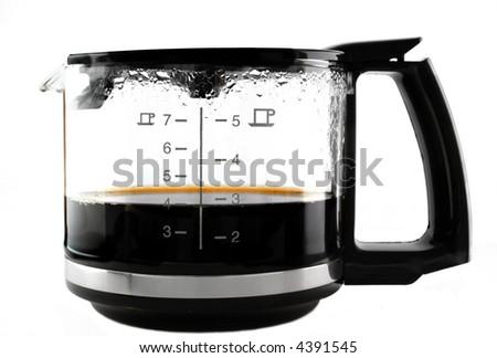 Coffee jar over white background - stock photo