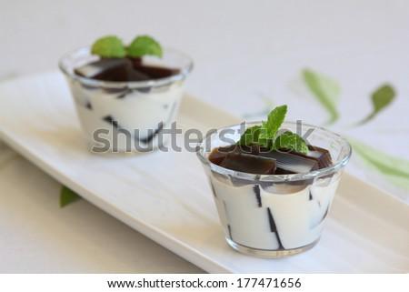 Coffee Jelly - stock photo