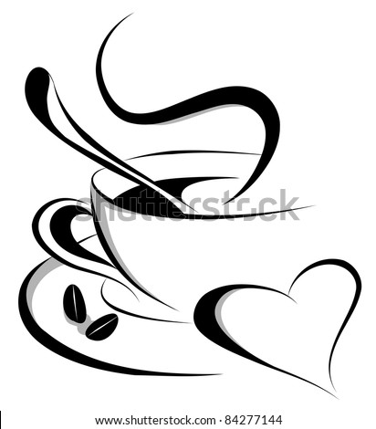 coffee love (also available vector version of this image) - stock photo