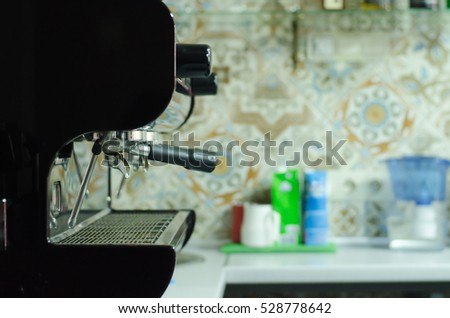 coffee machine in the cafe
