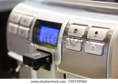 Coffee machine ready to use
