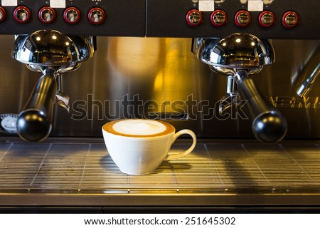 Coffee maker in coffee shop - stock photo