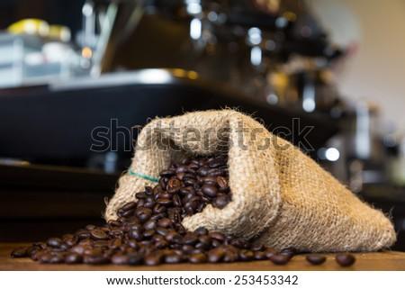 Coffee maker in coffee shop - stock photo