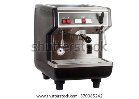 Coffee maker isolated on a white background - stock photo