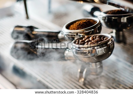 coffee maker machine - stock photo
