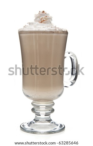 coffee mocha with whipped cream - stock photo