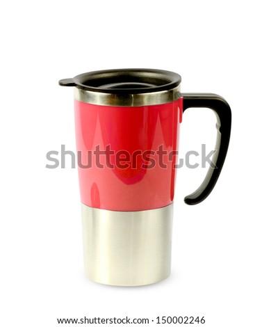 Coffee Mug isolated on white backgroun - stock photo