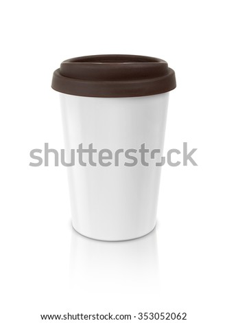 coffee mug isolated on white background with clipping path