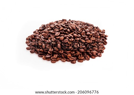 Coffee on a white background - stock photo
