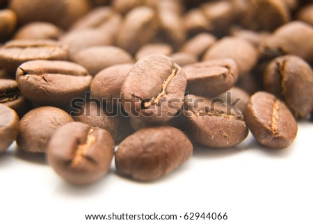 coffee on a white background