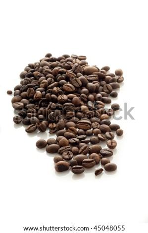 coffee on white - stock photo