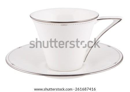 Coffee or tea cup isolated on white.  - stock photo