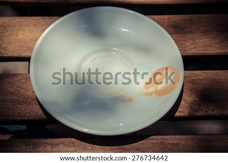 coffee plate tone vintage - stock photo