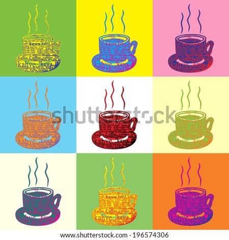 Coffee Pop Art - stock photo