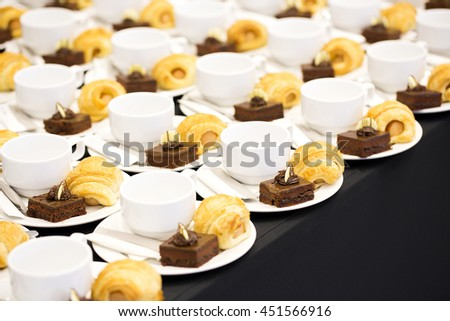 Coffee Set buffets - stock photo