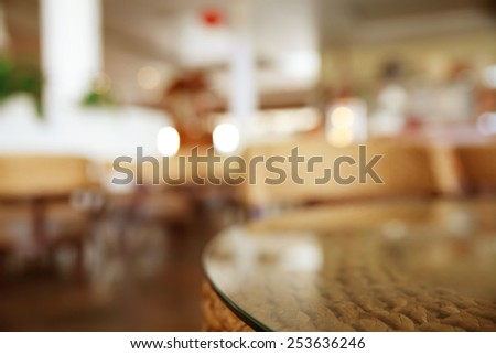 Coffee shop blur background - stock photo
