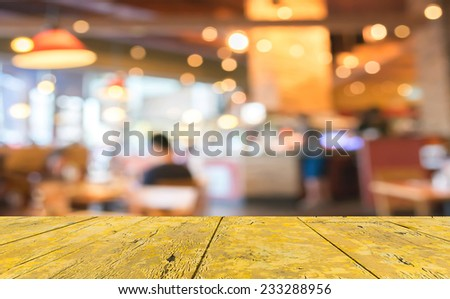 Coffee shop blur background with bokeh image. - stock photo