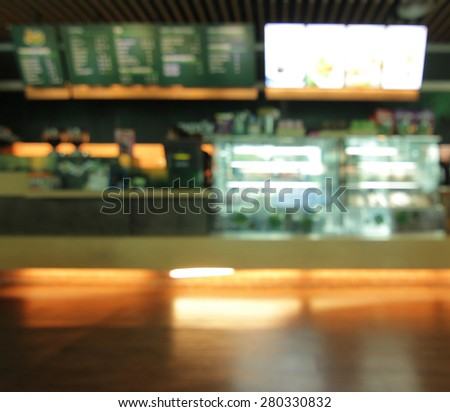 Coffee shop blur for background - stock photo