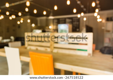Coffee shop blur style - stock photo