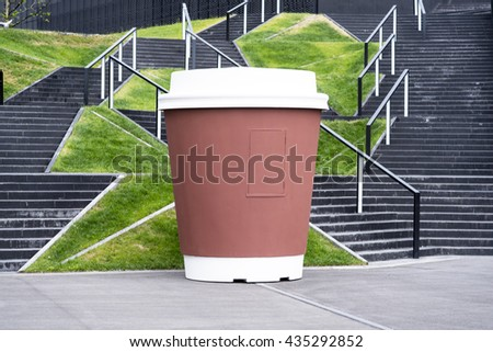Coffee shop in a shape of coffee cup - stock photo