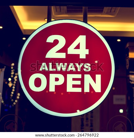 Coffee Shop Open Sign Coffee Shop Sign 24 Always