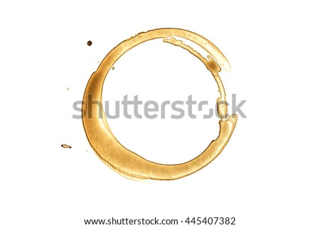 Coffee Stain - Isolated Photo./ Coffee Stain - Isolated Photo