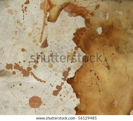 Coffee stains on old paper - stock photo