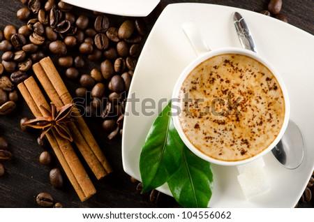 Coffee still life - stock photo