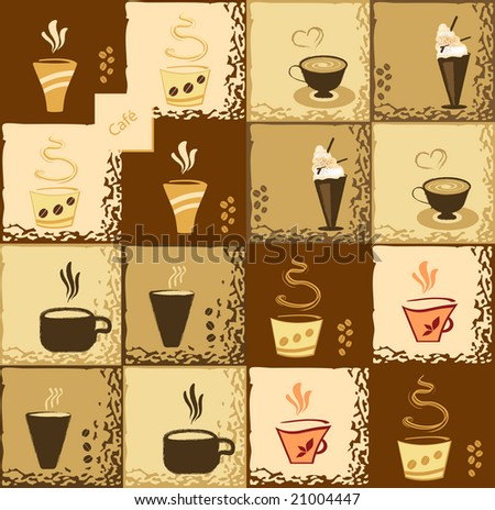 Coffee Stylish Background Design - stock photo