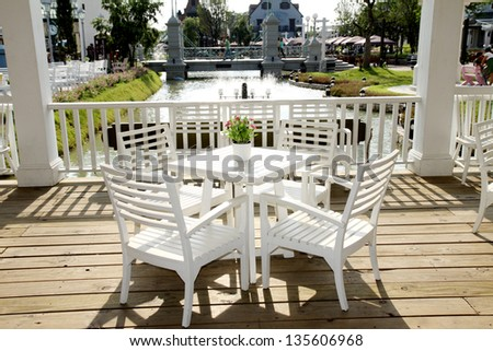 Coffee Table On Terrace Stock Photo Shutterstock - Sarin table
