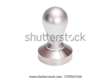 coffee tamper isolated on white background - stock photo