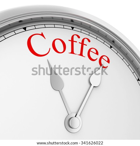 Coffee time. 3d illustration isolated on white background