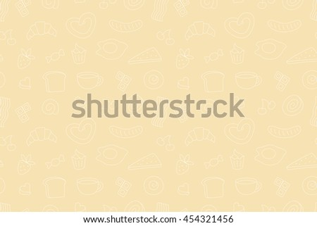 Coffee time, seamless background for your design. Raster version - stock photo