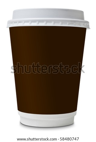 Coffee to go paper cup - stock photo