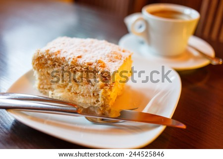 coffee with cake - stock photo