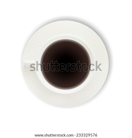 coffee with cinnamon stick isolated on white background