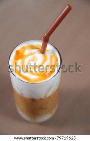 coffee with cream - stock photo