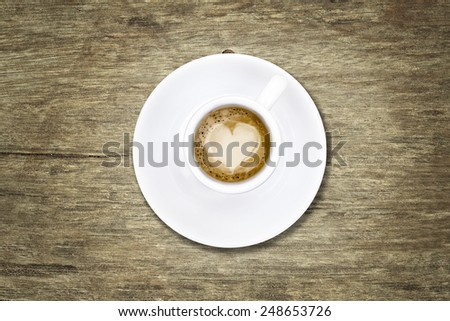 Coffee with heart - stock photo